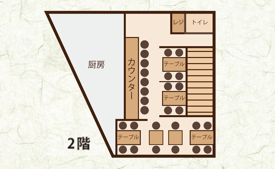 カウンター 8席/テーブル 20席